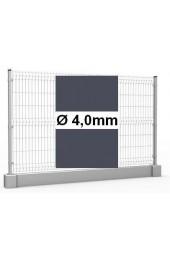 Zestaw ogrodzenie panelowe ocynk + RAL 7016 H =1230mm + podmurówka 25cm - Ø4mm oczko 50x200mm ( 1mb )