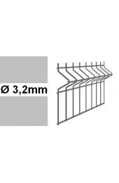 Panele ogrodzeniowe 3D ocynk H= 1230mm  Ø3,2mm oczko 75x200mm