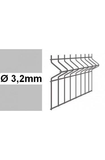 Panele ogrodzeniowe 3D ocynk H= 1530mm  Ø3,2mm oczko 75x200mm
