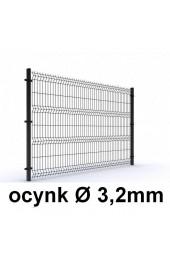 Zestaw ogrodzenie panelowe ocynk H=1530mm Ø3,2mm oczko 75x200mm ( 1mb )