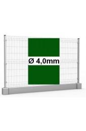 Zestaw ogrodzenie panelowe ocynk + RAL 6005 H =1230mm + podmurówka 25cm - Ø4mm oczko 50x200mm ( 1mb )