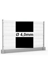 Zestaw ogrodzenie panelowe ocynk + RAL 9005 H =1230mm + podmurówka 25cm - Ø4mm oczko 50x200mm ( 1mb )