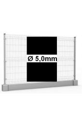 Zestaw ogrodzenie panelowe ocynk + RAL 9005 H =1230mm + podmurówka 25cm - Ø5mm oczko 50x200mm ( 1mb )