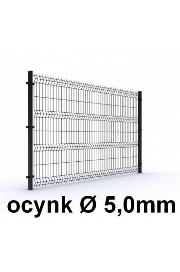 Zestaw ogrodzenie panelowe ocynk H=2030mm Ø5mm oczko 50x200mm ( 1mb )