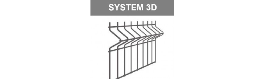 Panele ogrodzeniowe fi4/5mm 3D