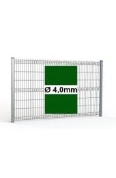 Zestaw ogrodzenie panelowe ocynk + RAL 6005 H=1730mm Ø4mm oczko 50x200mm ( 1mb )