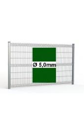 Zestaw ogrodzenie panelowe ocynk + RAL 6005 H=1730mm Ø5mm oczko 50x200mm ( 1mb )