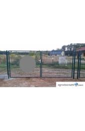 Brama dwuskrzydłowa 400x120cm OCYNK + RAL 7016 GRAFIT