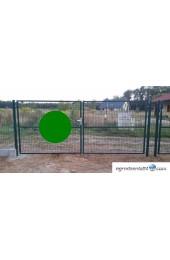 Brama dwuskrzydłowa 400x120cm OCYNK + RAL 6005 ZIELONA