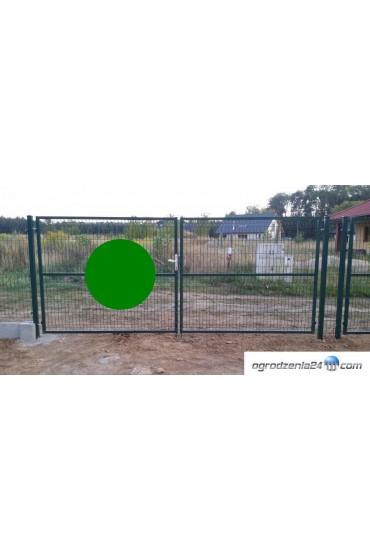 Brama dwuskrzydłowa 400x170cm OCYNK + RAL 6005 ZIELONA