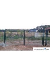 Brama dwuskrzydłowa 400x150cm OCYNK + RAL 6005 ZIELONA
