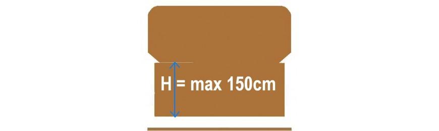 Wysokość od 121 cm  do 150